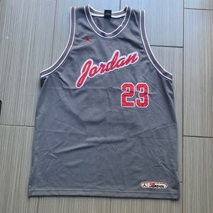 Air Jordan Gray Basketball Jersey  Jordan #23